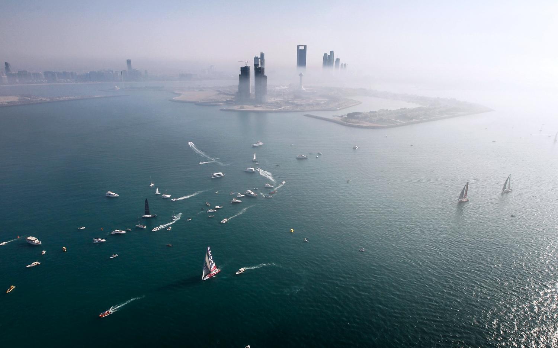 January, 2015. Start of Leg 3 in Abu Dhabi. Team SCA
